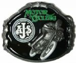 A.J.S. Motorcycle Belt Buckle + display stand. Code SA6